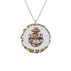Navy Gold Wife Necklace