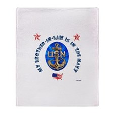 Navy Brother-in-Law Throw Blanket
