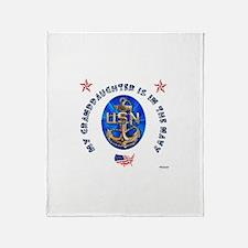 Navy Granddaughter Throw Blanket