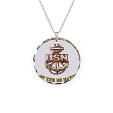 Navy Gold Granddaughter Necklace