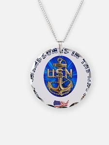 Navy Grandson Necklace