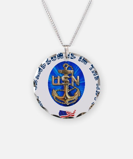 Navy Grandson Necklace