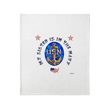 Navy Sister Throw Blanket