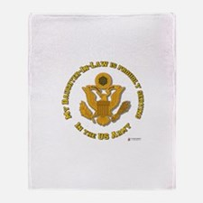 Army Daughter-in-Law Throw Blanket
