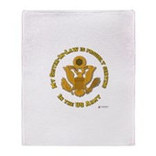 Army Sister-in-Law Gold Throw Blanket