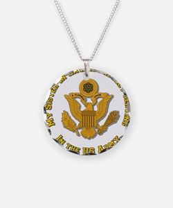 Army Sister-in-Law Gold Necklace