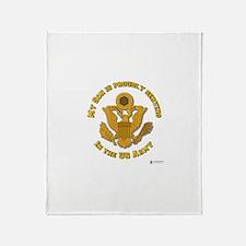 Army Son Gold Throw Blanket