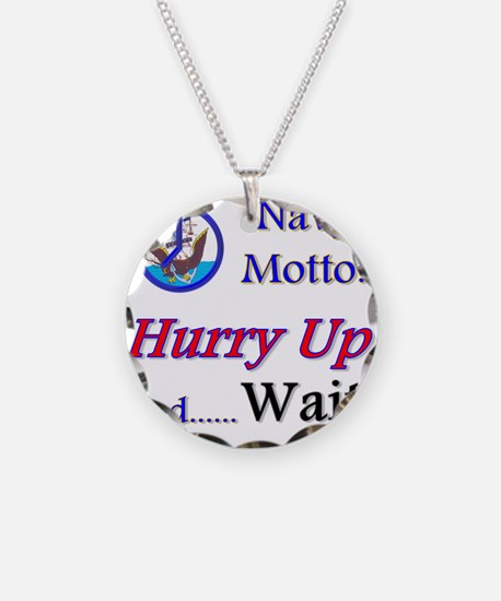 Navy Hurry Up Necklace