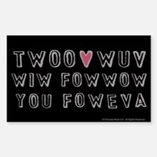 Princess Bride Twoo Wuv Foweva Sticker (Rectangle)