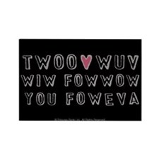 Princess Bride Twoo Wuv Foweva Rectangle Magnet