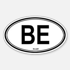 Belgium (BE) euro Oval Decal
