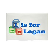 Baby Blocks Logan Rectangle Magnet