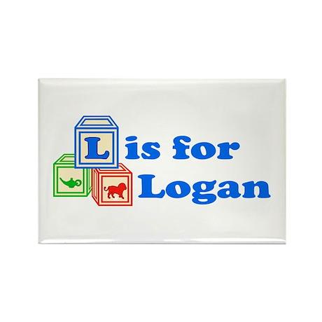 Baby Blocks Logan Rectangle Magnet (10 pack)
