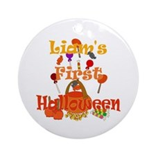 First Halloween Liam Ornament (Round)