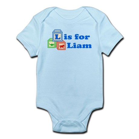 Baby Name Blocks - Liam Infant Bodysuit