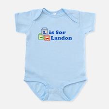 Baby Name Blocks - Landon Infant Bodysuit