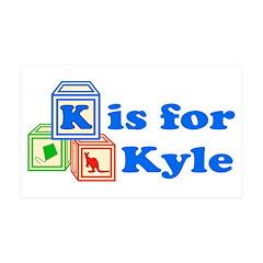 Baby Blocks Kyle 38.5 x 24.5 Wall Peel