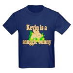 Kevin is a Snuggle Bunny Kids Dark T-Shirt