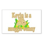 Kevin is a Snuggle Bunny Sticker (Rectangle 10 pk)