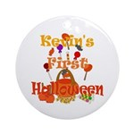 First Halloween Kevin Ornament (Round)