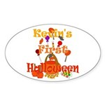 First Halloween Kevin Sticker (Oval)