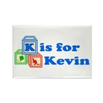 Baby Blocks Kevin Rectangle Magnet (10 pack)