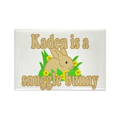 Kaden is a Snuggle Bunny Rectangle Magnet (100 pac