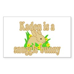 Kaden is a Snuggle Bunny Decal