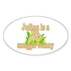 Julian is a Snuggle Bunny Decal