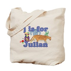 J is for Julian Tote Bag