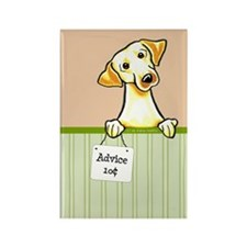 Yellow Lab Advice Rectangle Magnet