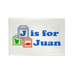 Baby Blocks Juan Rectangle Magnet