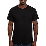Cat meditator Fitted T-shirts (Dark)