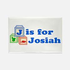 Baby Blocks Josiah Rectangle Magnet