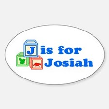 Baby Blocks Josiah Sticker (Oval)