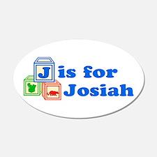 Baby Blocks Josiah 22x14 Oval Wall Peel