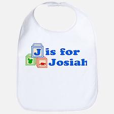 Baby Name Blocks - Josiah Bib