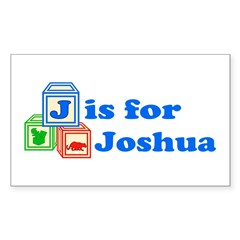 Baby Blocks Joshua Decal