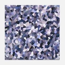 Purple Mosaic Pattern Tile Coaster