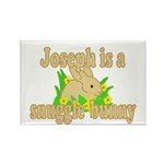 Joseph is a Snuggle Bunny Rectangle Magnet (100 pa