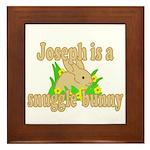 Joseph is a Snuggle Bunny Framed Tile