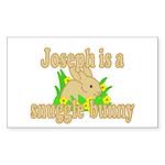 Joseph is a Snuggle Bunny Sticker (Rectangle 10 pk