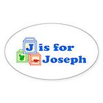 Baby Blocks Joseph Sticker (Oval 50 pk)