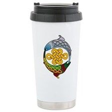Celtic Salmon Travel Coffee Mug