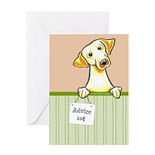 Yellow Lab Advice Greeting Card