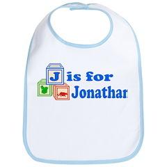 Baby Name Blocks - Jonathan Bib