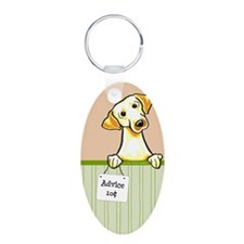 Yellow Lab Advice Keychains