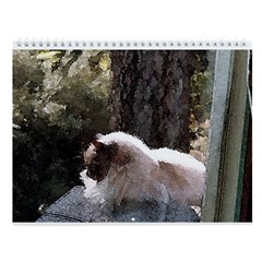 Cat on the Roof Vintage Style Wall Calendar