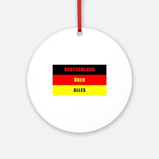 Deutschland Über Alles Round Ornament