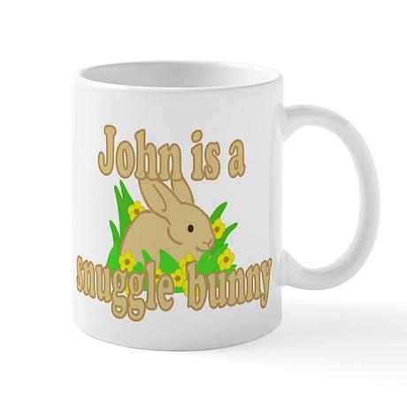 John is a Snuggle Bunny Mug